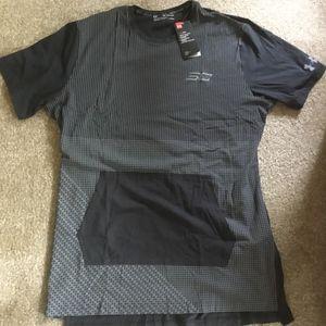 Under Armour Men's Grey/Black Print T-Shirt